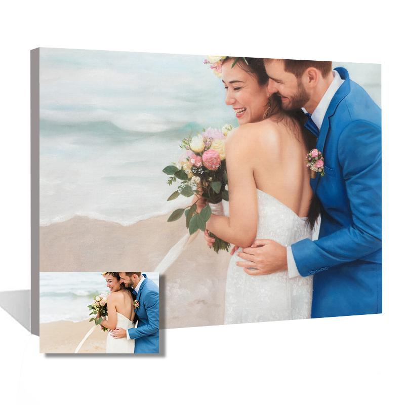 Photo Custom Canvas Painting Home Decoration Wedding Gift Wall Art Landscape Hand Painted Oil Painting Pet Animal