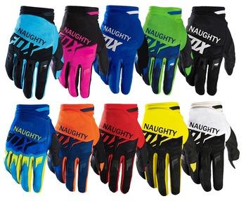 MX MTB Motocross pełne rękawiczki niegrzeczne FOX linie lotnicze rękawice ATV DH Mountain Dirt Bicycling rękawice rowerowe D tanie i dobre opinie fastrider Unisex Full Finger protection Poliestru i nylonu