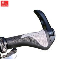 1 쌍 인체 공학적 자전거 핸들 바 그립 MTB 도로 자전거 핸들 그립 고무 커버 잠금 바 끝 자전거 그립 Mountian Bike Grip