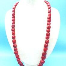Промо-акция! Классическое коралловое ожерелье, натуральное красное Коралловое ожерелье, африканские мужские свадебные украшения