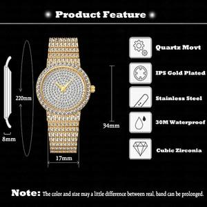 Image 3 - MISSFOX Marke Einzigartige Uhr Männer 7mm Ultra Dünne 30M Wasserdicht Iced Out Runde Teuer 34mm Schlank handgelenk Mann Uhr 2562