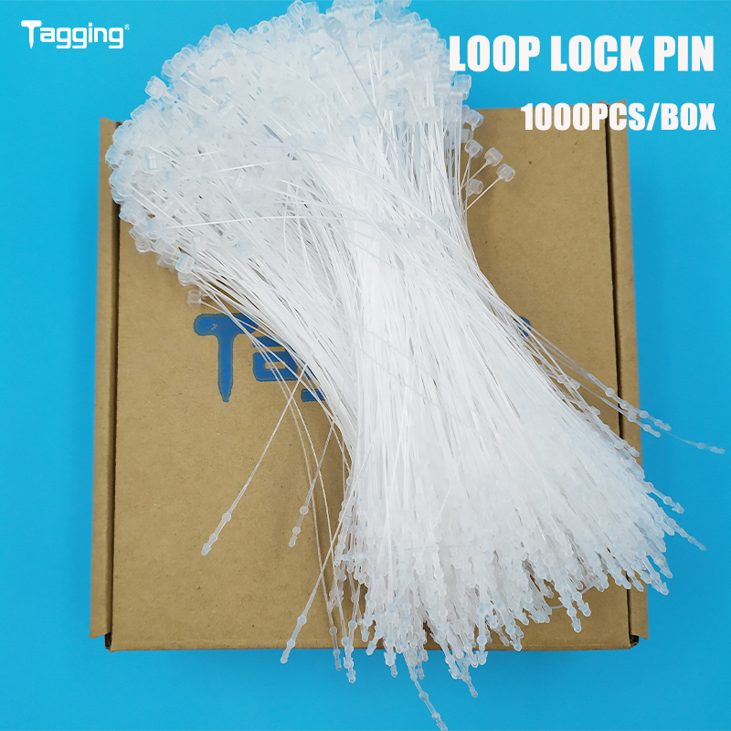 """1000Pcs 5/"""" Plastic Snap Lock Pin Shoe Tag line Fastener Tagging Tie for jewelry"""