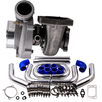 T3 Flange 4 Bolts GT3582 GT35 A/R .70 Turbo charger + 2.5 Intercooler Pipe Kit Aluminum For Nissan R32 R33 R34 RB25 RB30