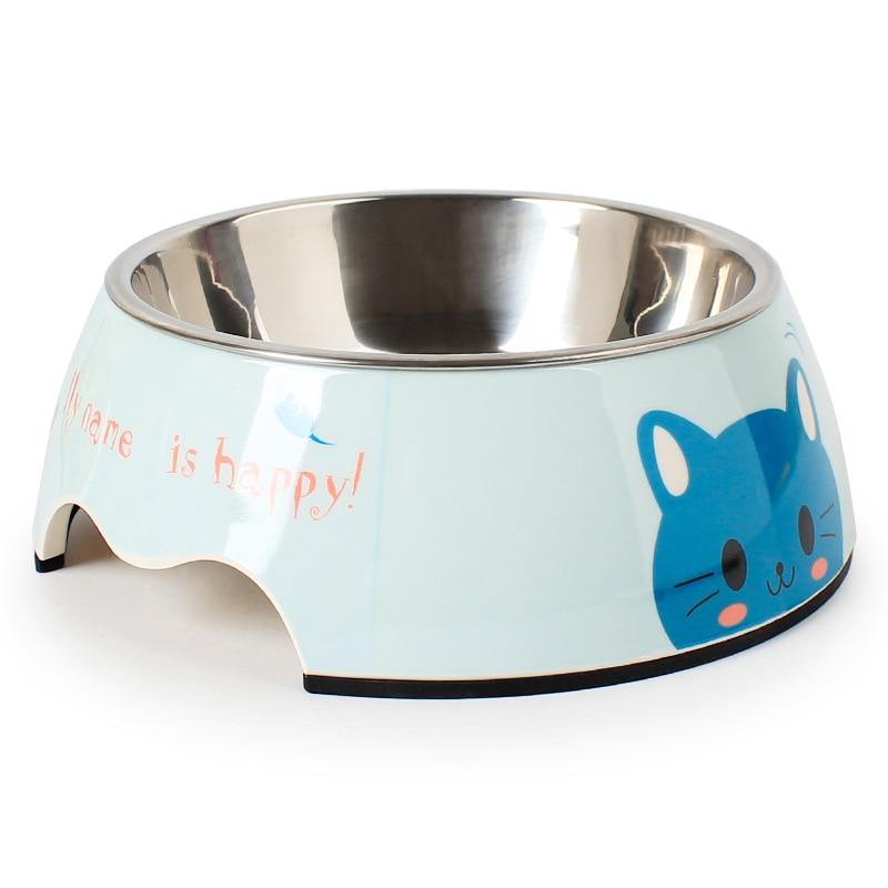 Pets Feeding bowl Anti Skid Pet tableware Stainless Steel Thicken Pet Melamine Dog Bowl Pet Bowls