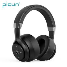 Picun P28s Wireless Bluetooth Headphone 2019 HIFI Stereo Physical Noise Reduction Wired Headset For Phone Built-in Microphone hoco universal bluetooth on ear hifi stereo headphone wired wireless nosie reduction headset earphone for phone pc laptop new