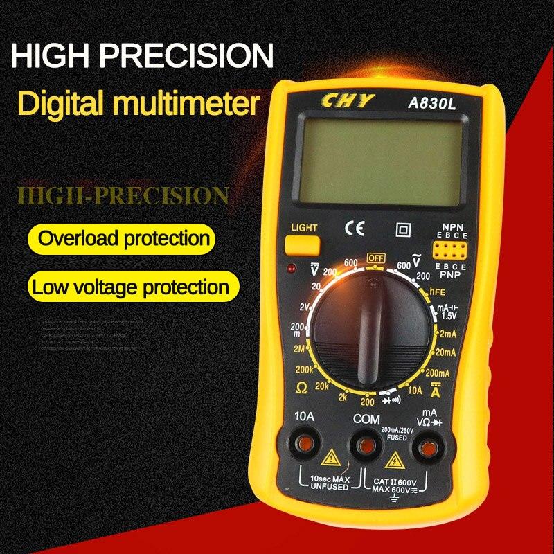 Universal Digital Multimeter Handheld AC/DC Voltage Ammeter Capacitance Resistance Diode Triode Buzzer Tester Current Meter