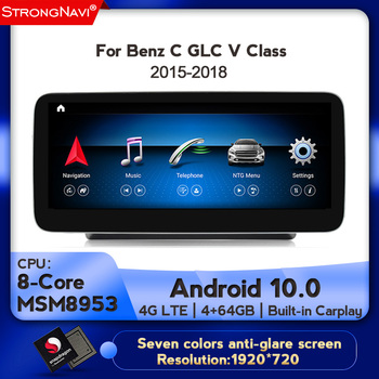 Android 10.0 1920*720 DSP Car DVD player Multimedia Radio For Mercedes-Benz GLC/C/V class W205 X253 W446 GPS Navigation 4+64G