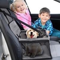 Pet Dog Car Carrier Bag Pad Waterproof Dog Seat Basket Safe Carry Cat Puppy Bag Travel Mesh Hanging Bags Car Seat Cover Fold