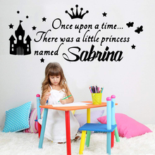 Beautiful Custom Name Vinyl Wallpaper vinyl Stickers For Baby Room Wall Decals Mural Girl Bedroom Sticker Pvc Decal