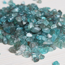 100G Natural Stone Mineral Crystal Blue Apatite Stone Healing Home Decoration Fish Tank Landscaping DIY Material