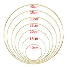 10-40cm altın Metal halka çemberler DIY zanaat rüzgar çanları aksesuarları asılı süslemeleri düğün dekorasyon için el yapımı ev dekor