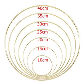 10-40cm złoty metal pierścień obręcze DIY Craft wiatr kuranty akcesoria dekoracje wiszące na dekoracje ślubne Handmade Home Decor tanie i dobre opinie Maskotka Duszpasterska