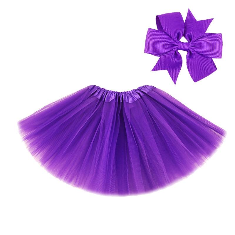 0-8Y Pink Tutu Skirt with Hear-clip for Kids Princess Girls Petticoats Birthday Party Dance Wear Kawaii Skirts 6