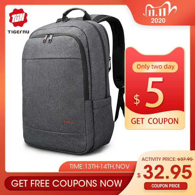 Tigernu אנטי גניבה USB bagpack 15.6 כדי 17 אינץ מחשב נייד תרמיל עבור גברים ילד זכר נקבת תיק בית ספר נסיעות המוצ ילה עסקי bagpack