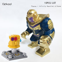 NEW 10pcs/lot Infinity Gauntlet 6 Stone Marvel Thanos Infinity War Big figures COMPATIBLE LEGOE Building Blocks Sets Model Toy(China)