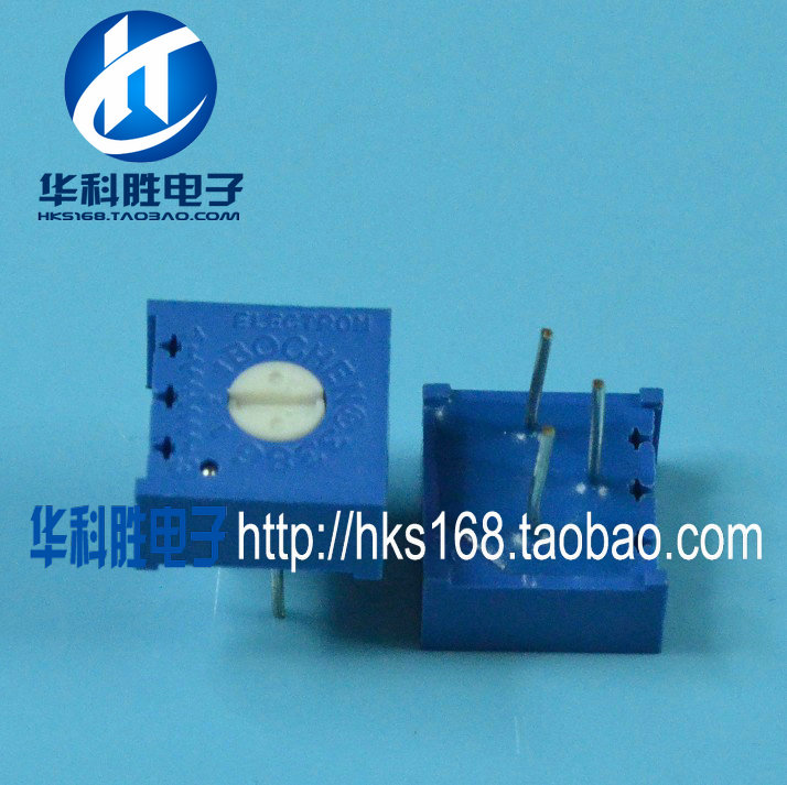 Free Shipping <font><b>3386</b></font> precision 102 (1K) adjustable resistance horizontal potentiometer image