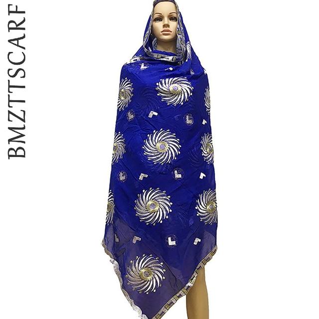 2020 جديد القطن مسلم التطريز النساء وشاح كبير المرأة الأفريقية وشاح ، دعوى shawls يلتف الباشمينا