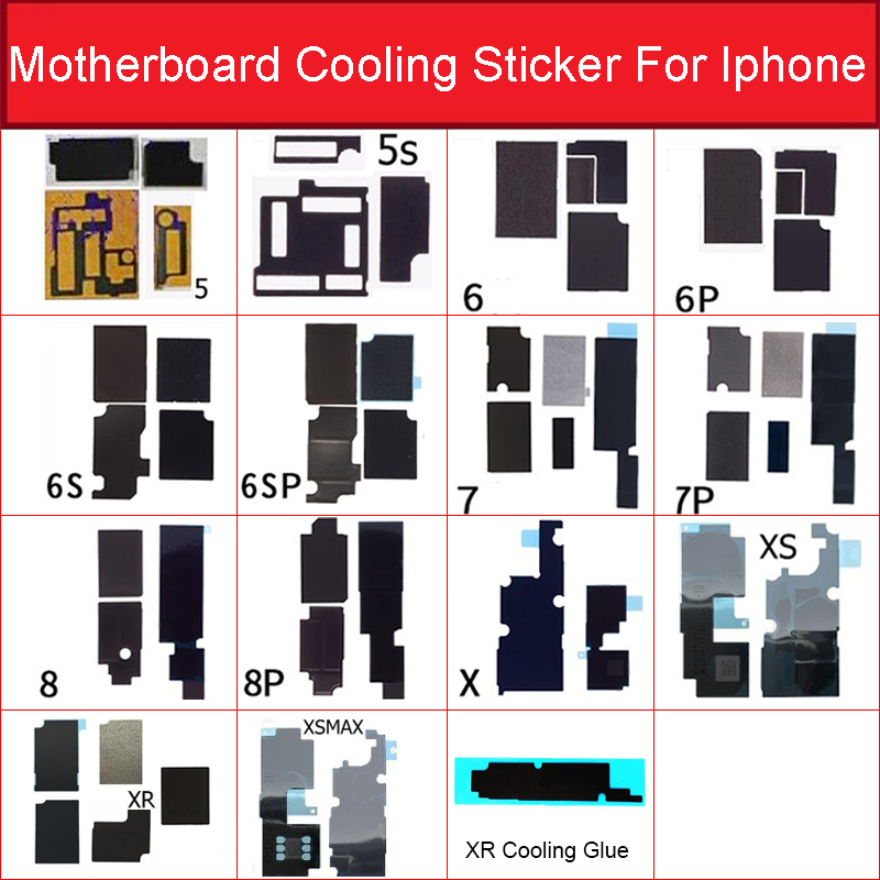Motherboard Cooling Heat Dissipation Sticker For Iphone 5s 6 6S 7 8 Plus X XS Max XR MainBoard Anti-static Heat Sink Sticker