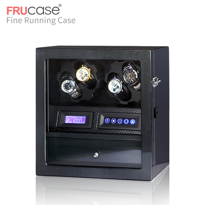 watch winder box watch display watch cabinet watch collector with LED touch screen display 4 5