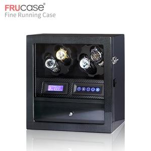 Image 3 - FRUCASE ملفاف ساعة صندوق ساعة عرض ساعة خزانة ساعة جامع تخزين مع شاشة LED باللمس عرض 4 + 5