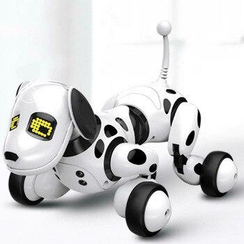 Led eletrônico brinquedo para animais de estimação sem fio crianças interativas falando inteligente rc robô cão controle remoto educacional inteligente