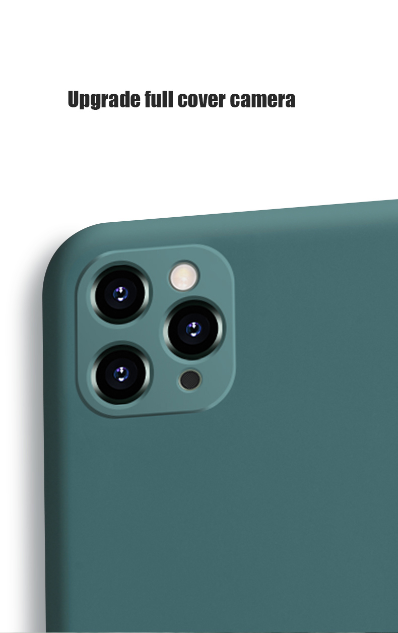 Liquid Silicone Phone Case With Precise Holes And Lens Protection for iPhone 11 Models 14