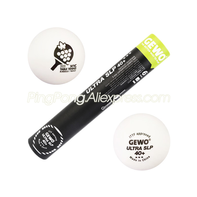 GEWO 2020 WVC Official Table Tennis Ball Original GEWO 3-STAR ULTRA SLP Special Edition Seamless Plastic 3 Star Ping Pong Balls