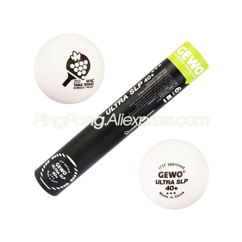 GEWO 2020 WVC Official Table Tennis Ball Original GEWO 3-STAR ULTRA SLP Special Edition Seamless Plastic 3 Star Ping Pong Balls