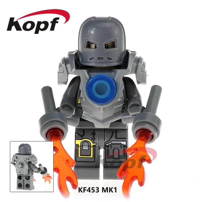 KF453 Single Sale Super Heroes MK1 Iron Man Harley Quinn Trickster Supergir Building Blocks For Kids Gift Toys