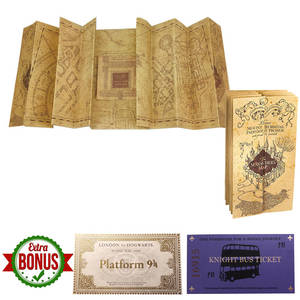 Harried-Collection Ticket Wizard Gifts Potters Marauder's-Map Party School Popular Fans