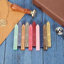 10 цветов, старинный Ретро герметизирующий воск, палочка для самостоятельного изготовления конвертов, букв, свадебных приглашений, рукоделие, Декор, винтажные уплотнительные восковые палочки