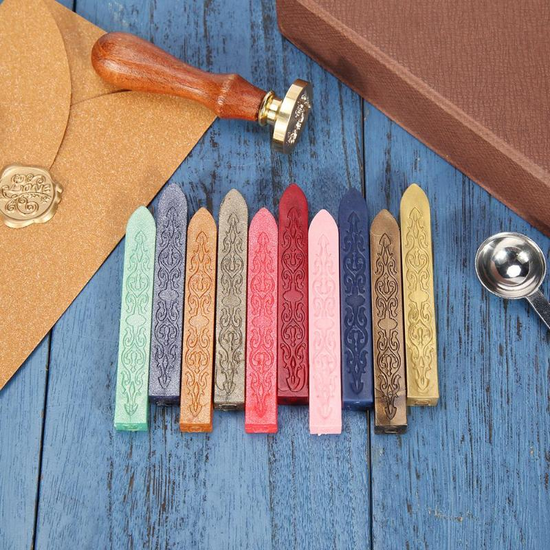 20 Color DIY Sealing Strips Seal Dedicated Beeswax Stick Branding Paint Stamp Seal Wax for Envelope Handmade Hobby DIY Tools(China)