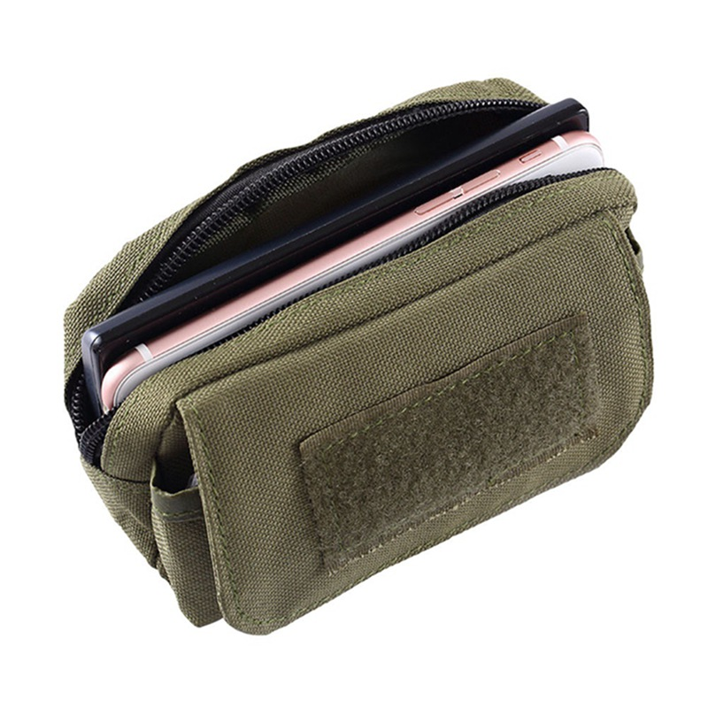 Outdoor Tactical Utility Pouch Pocket Mini Molle Pouch Waist Pack Travel Sports Wear-resistant Travel Bag Phone Bag