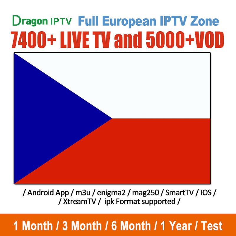 Czech IPTV Subscription Europe France Spain Italia Portugal IPTV Abonnement 7400+ Live Channels For Android BOX M3u Mag Smart TV