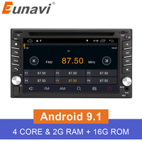 Eunavi 2 Din Quad Core TDA7851 Universal Android 9.1 Car Multimedia dvd radio stereo audio Player 2din Tablet PC GPS Navigation
