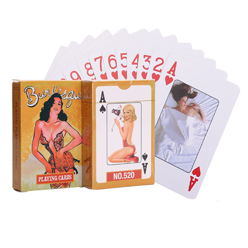 Sexy Beauty Cards Frosted Waterproof Plastic Playing Cards For Gift/Party/Family Game Poker