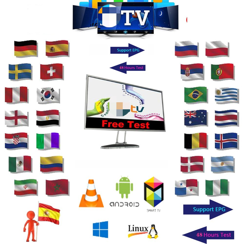8000+ Channels 1 Year Europe M3u IPTV Portugal Spain Germany Dutch Albania EX-YU Itpv Server For IPTV Smart TV Box Android IOS8