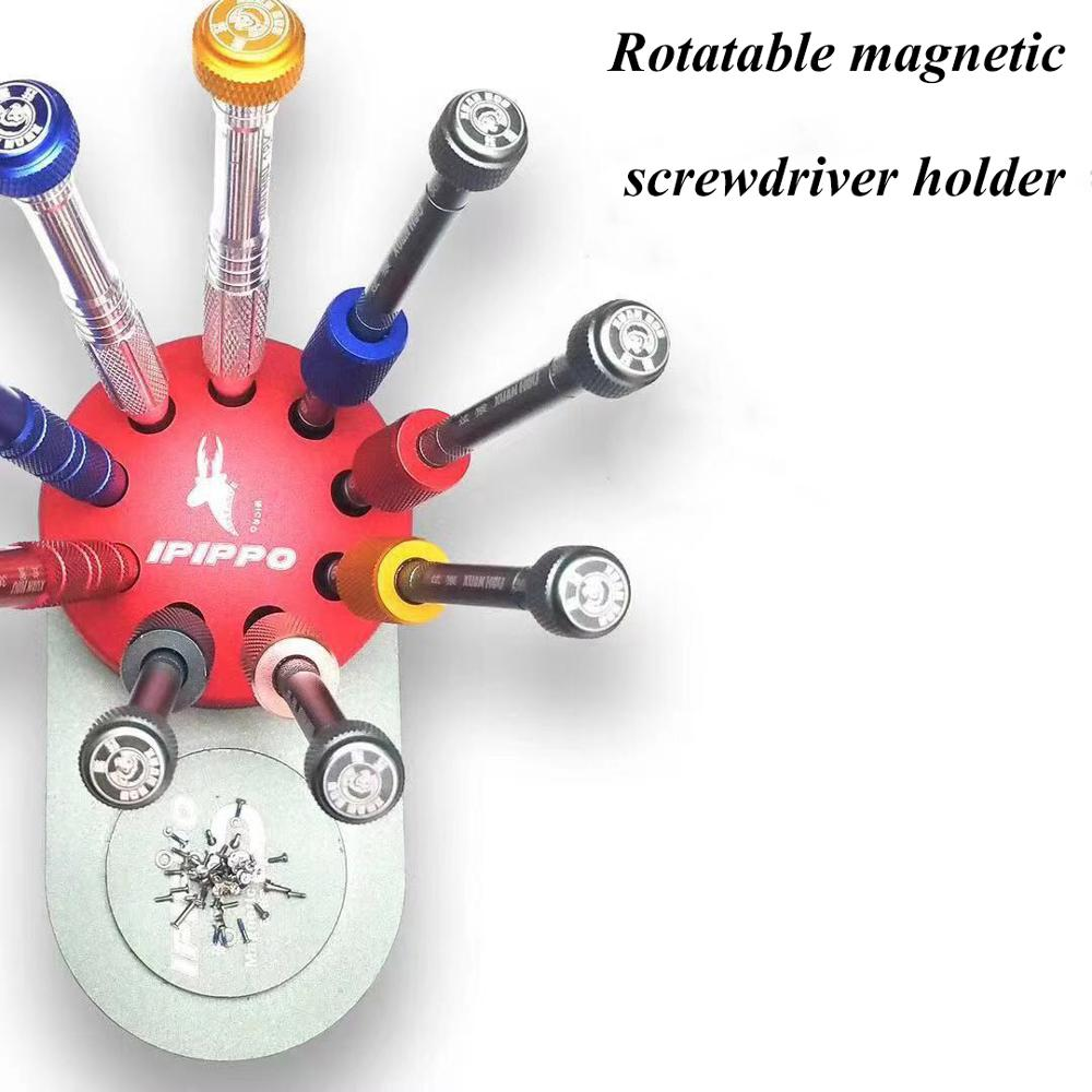 Rotatable magnetic screwdriver holder For Phones Computers repair Screwdriver place use tool