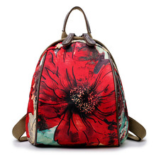 2019 New Fashion Large-capacity Backpack National Wind Printing Travel Bag Waterproof Oxford Cloth Wild Casual Backpack manjianghong retro casual canvas travel bag upscale wild fashion backpack large capacity simple college wind backpack