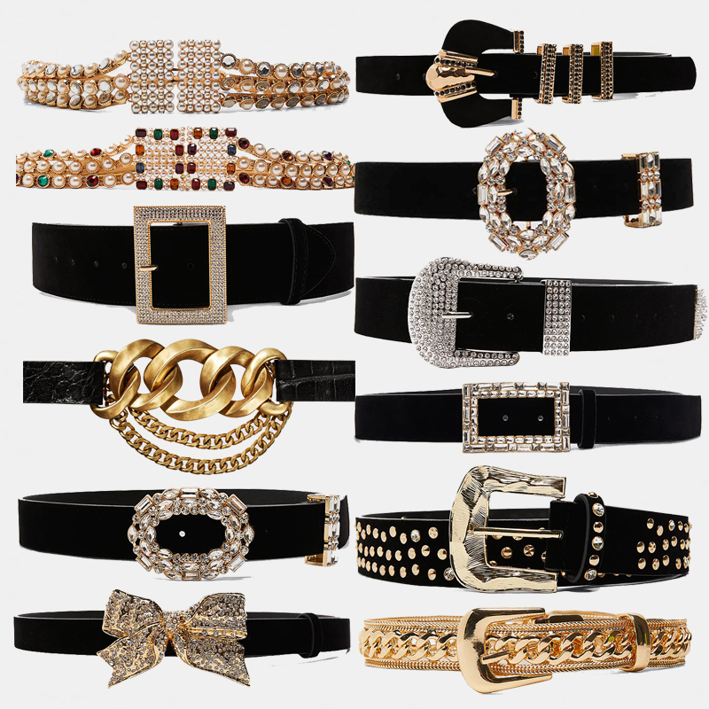 Dvacaman ZA 2019 Retro Crystal Belt Women Fashion Waist Belt Accessories Body Jewelry Leisure Dress Gifts Ceinture Femme Bijoux