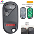 KEYECU дистанционный Автомобильный ключ с 2 + 1/3 кнопками 434 MHz-FOB для Honda Pilot 2003-2007 Civic 2001-2005 FCC ID: NHVWB1U523/NHVWB1U521