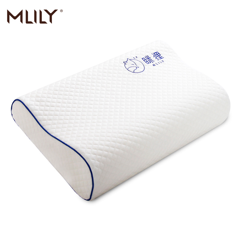 Mlily Orthopedic-Pillow Pillowcase Memory-Foam Neck-Pain Embroidered Bed for with 60--30cm