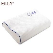 Mlily Speicher Schaum Bett Orthopädische Kissen für Hals Schmerzen Schlafen mit Gestickte Kissenbezug 60*30cm