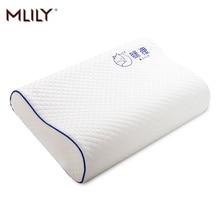 Mlily الذاكرة سرير إسفنجي وسادة العظام ل آلام الرقبة النوم مع المطرزة المخدة 60*30 سنتيمتر