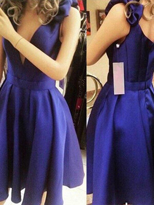 2020   Cocktail     Dress   A-Line/Princess Sleeveless Straps Satin Bowknot Short/Mini   Dresses   for Party