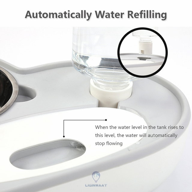 Automatic Water Dispenser For Cats/Dogs With Stainless Steel Food Bowl  4