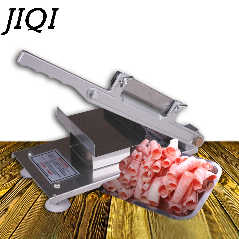 Automatic Planing Feed Meat Lamb Slicer Manual Beef Meatloaf Frozen Meat Cutting Machine Vegetable Mutton Rolls Grinder Cutter