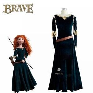 Valiente película cosplay princesa Merida Cosplay traje de fiesta de Halloween princesa cosplay ropa para chica vestidos de drama