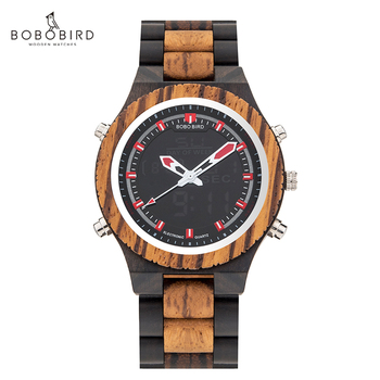 BOBO BIRD Luxury Men Multinational Digital Wood Wrist Watches Night Light and Week Display relogio masculino Timepieces - discount item  40% OFF Men's Watches