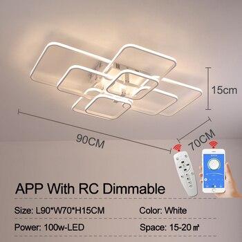 NEO Gleam Rectangle Acrylic Aluminum Modern Led ceiling lights for living room bedroom AC85-265V White Ceiling Lamp Fixtures 9